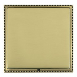 Hamilton Linea-Perlina CFX Antique Brass/Polished Brass Single Blank Plate