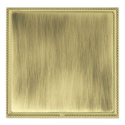 Hamilton Linea-Perlina CFX Polished Brass/Antique Brass Single Blank Plate