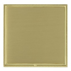 Hamilton Linea-Perlina CFX Polished Brass/Satin Brass Single Blank Plate