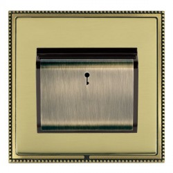 Hamilton Linea-Perlina CFX Antique Brass/Polished Brass 1 Gang On/Off 10A Card Switch with Blue LED Locat...