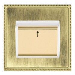Hamilton Linea-Perlina CFX Polished Brass/Antique Brass 1 Gang On/Off 10A Card Switch with Blue LED Locat...