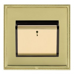 Hamilton Linea-Perlina CFX Polished Brass/Polished Brass 1 Gang On/Off 10A Card Switch with Blue LED Loca...