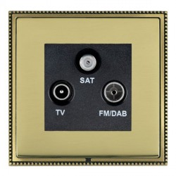 Hamilton Linea-Perlina CFX Antique Brass/Polished Brass TV+FM+SAT (DAB Compatible) with Black Insert
