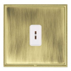 Hamilton Linea-Perlina CFX Polished Brass/Antique Brass 1 Gang 2 Way Key Switch with White Insert