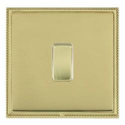 Hamilton Linea-Perlina CFX Polished Brass/Polished Brass 1 Gang 10amp 2 Way Rocker with White Insert