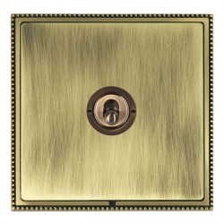 Hamilton Linea-Perlina CFX Antique Brass/Antique Brass 1 Gang 2 Way Dolly with Antique Brass Insert