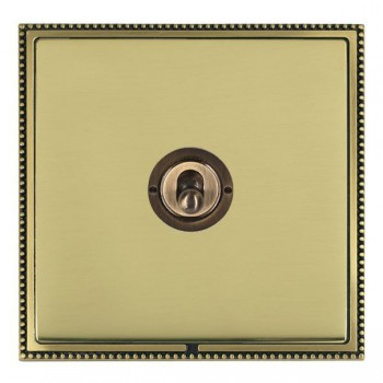 Hamilton Linea-Perlina CFX Antique Brass/Polished Brass 1 Gang 2 Way Dolly with Antique Brass Insert