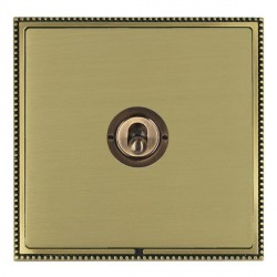 Hamilton Linea-Perlina CFX Antique Brass/Satin Brass 1 Gang 2 Way Dolly with Antique Brass Insert