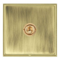 Hamilton Linea-Perlina CFX Polished Brass/Antique Brass 1 Gang 2 Way Dolly with Polished Brass Insert