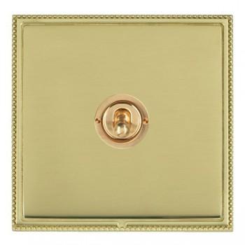 Hamilton Linea-Perlina CFX Polished Brass/Polished Brass 1 Gang 2 Way Dolly with Polished Brass Insert