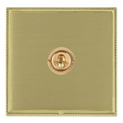 Hamilton Linea-Perlina CFX Polished Brass/Satin Brass 1 Gang 2 Way Dolly with Polished Brass Insert
