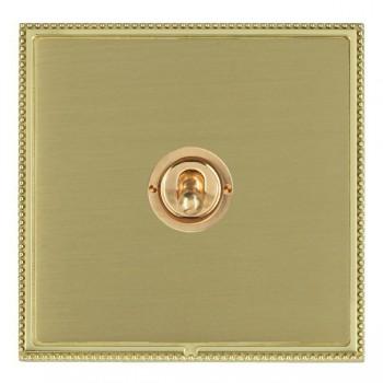 Hamilton Linea-Perlina CFX Polished Brass/Satin Brass 1 Gang 2 Way Dolly with Polished Brass Insert