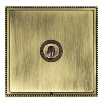 Hamilton Linea-Perlina CFX Antique Brass/Antique Brass 1 Gang Intermediate Dolly with Antique Brass Insert
