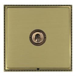 Hamilton Linea-Perlina CFX Antique Brass/Satin Brass 1 Gang Intermediate Dolly with Antique Brass Insert