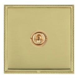 Hamilton Linea-Perlina CFX Polished Brass/Polished Brass 1 Gang Intermediate Dolly with Polished Brass Insert