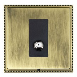 Hamilton Linea-Perlina CFX Antique Brass/Antique Brass 1 Gang Non Isolated Satellite with Black Insert