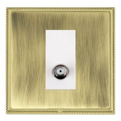 Hamilton Linea-Perlina CFX Polished Brass/Antique Brass 1 Gang Isolated Satellite with White Insert