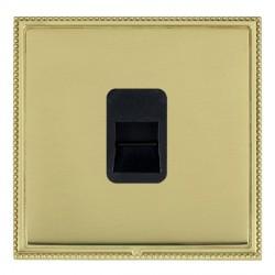 Hamilton Linea-Perlina CFX Polished Brass/Polished Brass 1 Gang Telephone Master with Black Insert