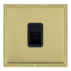 Hamilton Linea-Perlina CFX Polished Brass/Polished Brass 1 Gang Telephone Slave with Black Insert