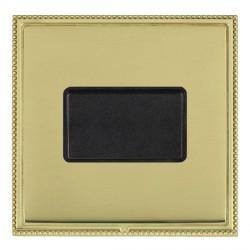 Hamilton Linea-Perlina CFX Polished Brass/Polished Brass 1 Gang 10A Triple Pole Rocker with Black Insert