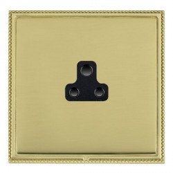 Hamilton Linea-Perlina CFX Polished Brass/Polished Brass 1 Gang 2A Unswitched Socket with Black Insert