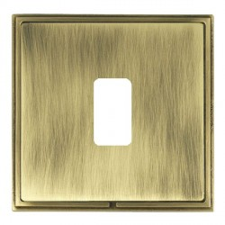 Hamilton Linea-Scala CFX Antique Brass/Antique Brass 1 Gang Grid Fix Aperture Plate with Grid