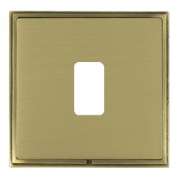 Hamilton Linea-Scala CFX Antique Brass/Satin Brass 1 Gang Grid Fix Aperture Plate with Grid