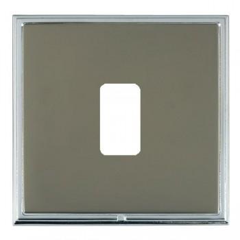 Hamilton Linea-Scala CFX Bright Chrome/Black Nickel 1 Gang Grid Fix Aperture Plate with Grid