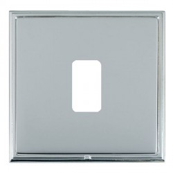 Hamilton Linea-Scala CFX Bright Chrome/Bright Steel 1 Gang Grid Fix Aperture Plate with Grid