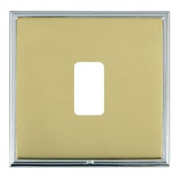 Hamilton Linea-Scala CFX Bright Chrome/Polished Brass 1 Gang Grid Fix Aperture Plate with Grid