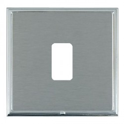 Hamilton Linea-Scala CFX Bright Chrome/Satin Steel 1 Gang Grid Fix Aperture Plate with Grid