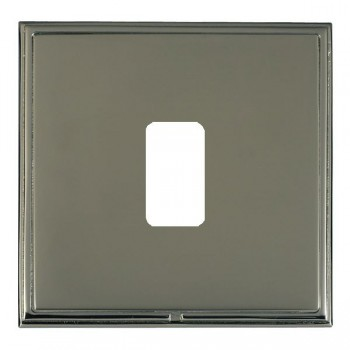 Hamilton Linea-Scala CFX Black Nickel/Black Nickel 1 Gang Grid Fix Aperture Plate with Grid