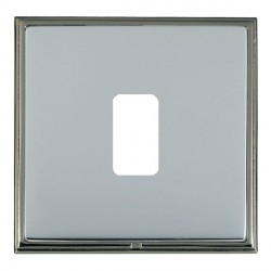Hamilton Linea-Scala CFX Black Nickel/Bright Steel 1 Gang Grid Fix Aperture Plate with Grid