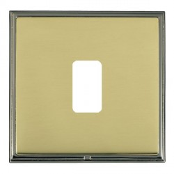 Hamilton Linea-Scala CFX Black Nickel/Polished Brass 1 Gang Grid Fix Aperture Plate with Grid