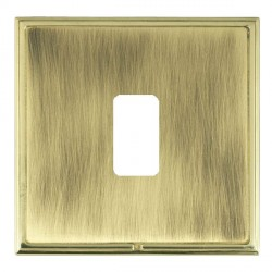 Hamilton Linea-Scala CFX Polished Brass/Antique Brass 1 Gang Grid Fix Aperture Plate with Grid