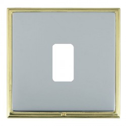 Hamilton Linea-Scala CFX Polished Brass/Bright Steel 1 Gang Grid Fix Aperture Plate with Grid