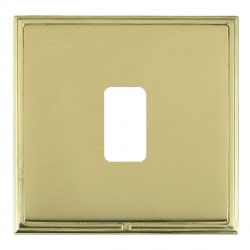 Hamilton Linea-Scala CFX Polished Brass/Polished Brass 1 Gang Grid Fix Aperture Plate with Grid