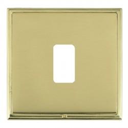Hamilton Linea-Scala CFX Polished Brass/Polished Brass 1 Gang Grid Fix Aperture Plate with Grid