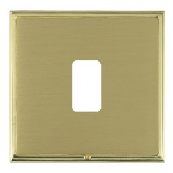 Hamilton Linea-Scala CFX Polished Brass/Satin Brass 1 Gang Grid Fix Aperture Plate with Grid