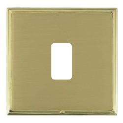 Hamilton Linea-Scala CFX Polished Brass/Satin Brass 1 Gang Grid Fix Aperture Plate with Grid