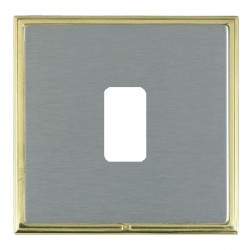 Hamilton Linea-Scala CFX Polished Brass/Satin Steel 1 Gang Grid Fix Aperture Plate with Grid
