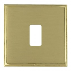 Hamilton Linea-Scala CFX Satin Brass/Satin Brass 1 Gang Grid Fix Aperture Plate with Grid