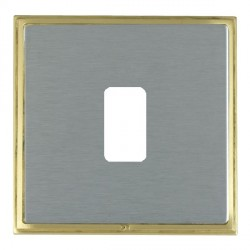 Hamilton Linea-Scala CFX Satin Brass/Satin Steel 1 Gang Grid Fix Aperture Plate with Grid