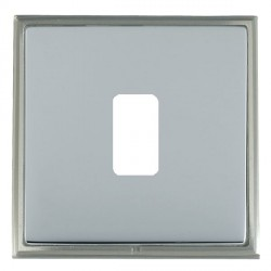 Hamilton Linea-Scala CFX Satin Nickel/Bright Steel 1 Gang Grid Fix Aperture Plate with Grid