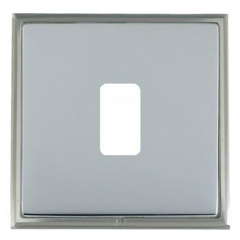 Hamilton Linea-Scala CFX Satin Nickel/Bright Steel 1 Gang Grid Fix Aperture Plate with Grid