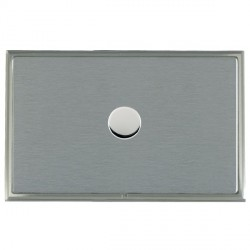 Hamilton Linea-Scala CFX Satin Nickel/Satin Steel Push On/Off Dimmer 1 Gang 2 way with Satin Steel Insert
