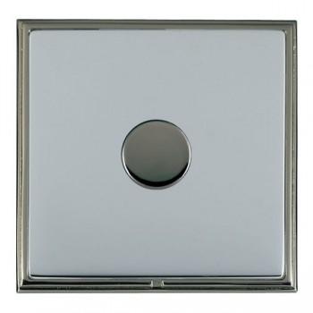 Hamilton Linea-Scala CFX Black Nickel/Bright Steel Push On/Off Dimmer 1 Gang 2 way Inductive with Black Nickel Insert