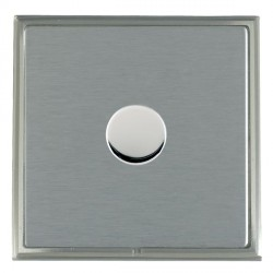 Hamilton Linea-Scala CFX Satin Nickel/Satin Steel Push On/Off Dimmer 1 Gang 2 way Inductive with Satin St...