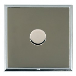 Hamilton Linea-Scala CFX Bright Chrome/Black Nickel Push On/Off Dimmer 1 Gang 2 way with Bright Chrome Insert