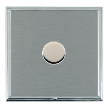Hamilton Linea-Scala CFX Bright Chrome/Satin Steel Push On/Off Dimmer 1 Gang 2 way with Bright Chrome Insert